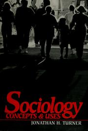 Cover of: Sociology | Jonathan H. Turner