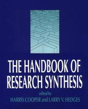 Cover of: The Handbook of research synthesis