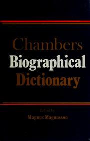 Cover of: Chambers Biographical Dictionary | Magnus Magnusson