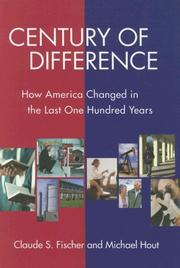 Cover of: Century of Difference | Claude S. Fischer