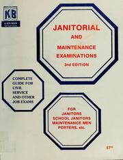 Cover of: Janitorial and maintenance examinations | Ken-Books, San Francisco