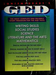 Cover of: Contemporary's GED by coordinating editor, Patricia Mulcrone ; reviewers, Kathryn Coleman ... [et al.].