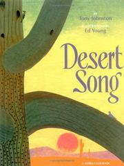 Cover of: Desert song | Tony Johnston