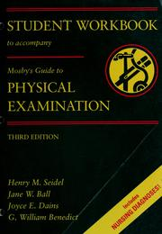 Cover of: Student workbook to accompany Mosby's guide to physical examination | Mindi Miller