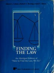 Cover of: Finding the law | Morris L. Cohen