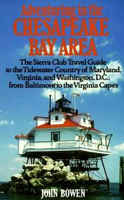 Cover of: Adventuring in the Chesapeake Bay area