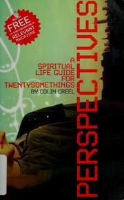 Cover of: Perspectives | Colin Creel