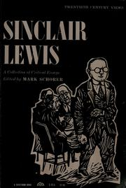 Cover of: Sinclair Lewis | Mark Schorer