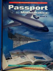 Cover of: Passport to mathematics | Ron Larson