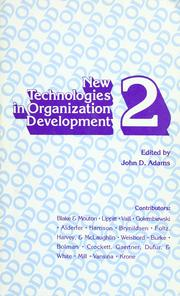 Cover of: New technologies in organization development, 2 = |