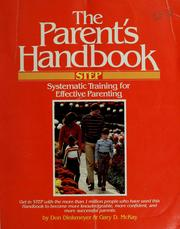 Cover of: The parent's handbook | Dinkmeyer, Don C.