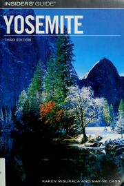 Insiders' guide to Yosemite by Karen Misuraca