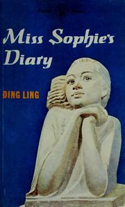 Cover of: Miss Sophie's diary and other stories by Ding, Ling