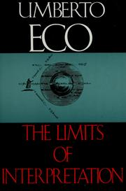 Cover of: The Limits of Interpretation | Umberto Eco