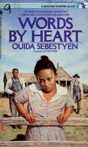 Cover of: Words by Heart | Ouida Sebestyen
