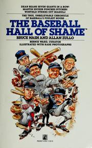 Cover of: The baseball hall of shame | Bruce M. Nash