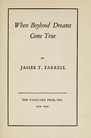 Cover of: When boyhood dreams come true