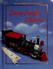 Cover of: Some people I know | Beverly Jeanne Armento