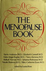 Cover of: The Menopause book |