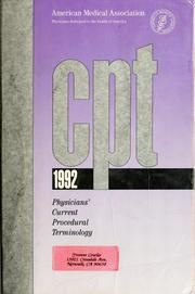 Cover of: CPT 1992 | Celeste G. Kirschner