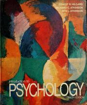 Cover of: Introduction to psychology | Ernest Ropiequet Hilgard