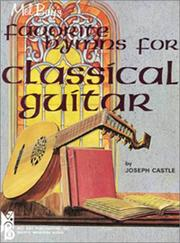 Cover of: Mel Bay's Favorite Hymns for Classical Guitar