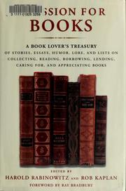 Cover of: A passion for books | [edited by] Harold Rabinowitz and Rob Kaplan.