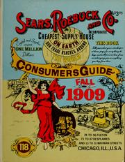 Cover of: 1909 catalog by Sears, Roebuck and Company