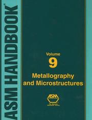 Cover of: Asm Handbook | George F. Vander Voort