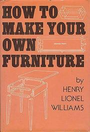 Cover of: How to Make Your Own Furniture
