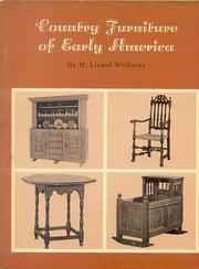 Cover of: Country Furniture of Early America