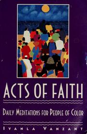 Cover of: Acts of faith | Iyanla Vanzant