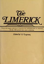 Cover of: The  Limerick | edited by G. Legman