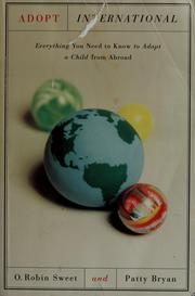 Cover of: Adopt international | O. Robin Sweet