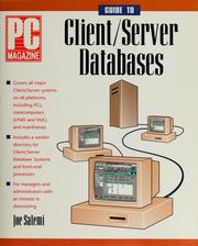 Cover of: PC magazine guide to client/server databases | Joe Salemi