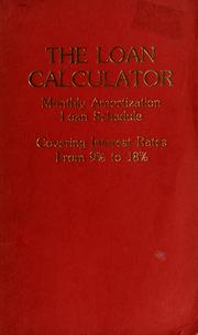 Cover of: The Loan calculator | Delphi Information Sciences Corporation