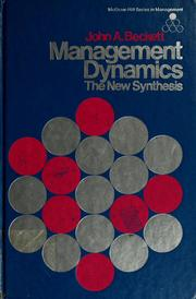Cover of: Management dynamics | John A. Beckett