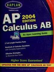 Cover of: AP Calculus AB | Apex Learning
