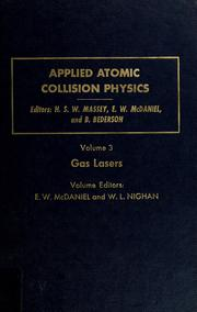Cover of: Applied atomic collision physics | edited by H.S.W. Massey, E.W. McDaniel, B. Bederson.
