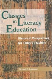 Cover of: Classics in literacy education