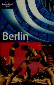 Cover of: Berlin | Andrea Schulte-Peevers