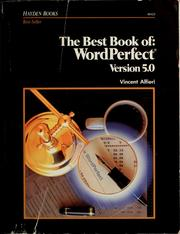 Cover of: The  best book of--WordPerfect, Version 5.0 | Vincent Alfieri