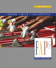 Cover of: Fundamental Accounting Principles Volume 2 Chapters 13-26