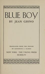 Cover of: Blue Boy | Jean Giono