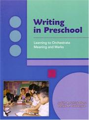 Cover of: Writing in preschool
