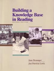 Cover of: Building a knowledge base in reading