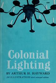 Cover of: Colonial lighting | Arthur H. Hayward