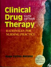 Cover of: Clinical drug therapy | Anne Collins Abrams