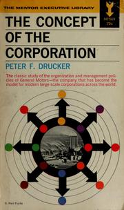Cover of: Concept of the corporation | Peter F. Drucker