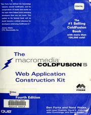 Cover of: The ColdFusion 5 Web application construction kit